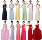 New Women's Long Chiffon Evening Party Wedding Bridesmaid Prom Ball Gown Dress