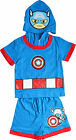 Pajama Set Fancy Marvel Captain America Comics 100% Cotton Boy Sizes 3-6 Years