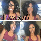 Sex Afro Kinky Curly 100% Brazilian Human Remy Hair  Full Lace /Front Lace Wigs