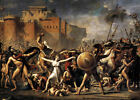 French Neoclassical Masterpiece print: Intercession of Sabine Women by L David
