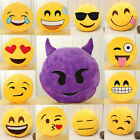 Emoji Pillow Yellow Round Cushion Soft Stuffed Plush Toy Doll Poop Devil 13""
