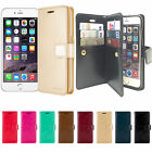Goospery Dual Wallet PU Leather Diary Case For Apple iPhone 5 5S/6 6S/6 Plus