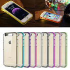 In Coming Call LED Flash Light TPU Hard Clear Back Case for iPhone SE /6 6s Plus