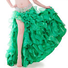High Quality Belly Dancing perform Waves Skirt with Slit Skirt Dress 10 Colors
