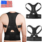 Magnetic Therapy Posture Corrector Body Back Pain Belt Brace Shoulder Support US