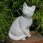 Cast Stone Cement Posing Cat Outdoor Garden Statue