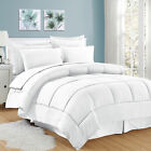 8 Piece Bed In A Bag Hotel Dobby Embossed Comforter Sheet Bed Skirt Sham Set