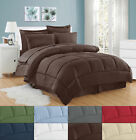 8 Piece Bed In A Bag Hotel Dobby Embossed Comforter Sheet Bed Skirt Sham Set image