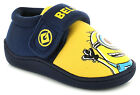 New Unisex/Childrens Navy/Yellow Despicable Me Jersey Slippers UK SIZES