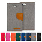 iPhone 7 6S 6 Plus 5S 5 SE Case MERCURY GOOSPERY Canvas Diary Wallet Flip Cover
