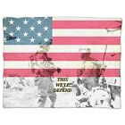 US Army Armed Forces USA Fleece Blanket - Baby Soft Faux Fur Throw