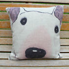 Cushion Cover Throw Pillow Case Linen-Cute Bull Terrier English Dog Puppy Gift