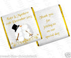 ** 50 PERSONALISED CHOCOLATE WEDDING/ENGAGEMENT FAVOURS -  SNOWMAN DESIGN **