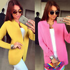 UK Fashion Ladies Women Open Front Trench Cardigan Jacket Long Coat Top Overcoat