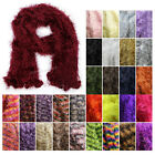 Winter Super Soft Fuzzy Furry Fluff Knit Scarf Womens Warm Multi Neck Warmer New