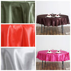 "10 pcs 90"" Satin ROUND Tablecloths Wedding Table Linens Wholesale Supply SALE"