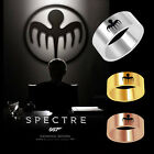 Xmas Spectre James Bond 007 Real 925 Sterling Silver Ring Prop accurate Men $9.88 USD