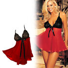 Red Black Sexy Lingerie Women Nightwear Dress GString Medium to Extra Large Size