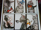 Cat with Butterfly Note Pad Memo Handbag Essential Pocket Size (410)