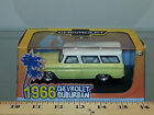 1/43 GREENLIGHT 1966 CHEVROLET CUSTOM SUBURBAN YELLOW WITH WHITE TOP