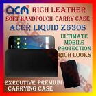 ACM-RICH LEATHER SOFT CASE for ACER LIQUID Z630S MOBILE HANDPOUCH COVER HOLDER