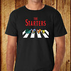 Pokemon The starter Funny *The Beatles Abbey Road Men's Black T-Shirt Size S-3XL