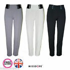 NEW STRETCH SKINNY PENCIL BUTTON PANTS LEGGINGS JEGGINGS WOMENS SIZE 8 10 12 14