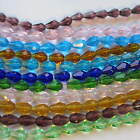 60 Teardrop Faceted Glass Beads Crystal 12 X 8mm Craft Jewellery Making