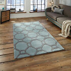 MEDIUM MODERN LARGE THICK  BLUE GREY HONG KONG ACRYLIC BEST QUALITY RUGS ON SALE