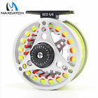 5/6/7/8 WT Fly Reel Silver Aluminum Large Arbor Fly Fishing Reel &Fly Line Combo