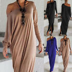 Fashion Women's Ladies Casual Long Sleeve Evening Party Cocktail Maxi Long Dress