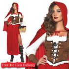 Adult Red Riding Hood Fancy Dress Outfit Adult UK 6-28 Plus Size Book Week