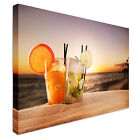 Cocktails on the beach dusk Canvas wall Art prints high quality great value