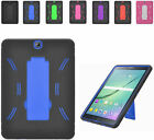 2Layer Armor Case Cover w/2Way Stand For Samung Galaxy Tab S2 9.7 T817 Tablet