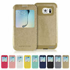Samsung Galaxy S6 Edge Case MERCURY Goospery Wow Bumper Window View Flip Cover