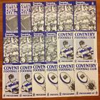 Coventry Rugby Programmes 1981 - 1991