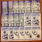 Coventry Rugby Programmes 1962 - 1996