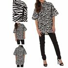 Hidden Fashion Ladies Faux Leather Zebra Longline Top