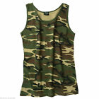 Woodland TANK TOP WOODLAND US ARMY Shirt Muskelshirt.