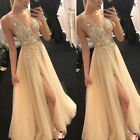Valentine Women Sexy Sheer Lace Floor Length Long Dress Evening Cocktail Party