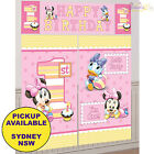 MINNIE MOUSE 1ST BIRTHDAY PARTY SUPPLIES SCENE SETTER DECORATING BACKDROP KIT