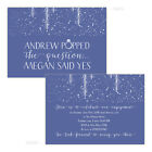Personalised engagement party invitations NAVY BLUE SPARKLE POP FREE ENVELOPES &
