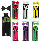 Suspenders And Bow Tie Combo Set-tuxedo Classic Wedding Costume Tux Prom Party
