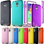 for samsung galaxy S5 colored transparent back case cover w/ bumper