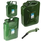 Quality Jerry Can Metal Storage Tank Canister Fuel Petrol Diesel Water 5,10, 20L