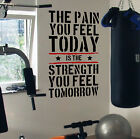 Pain Today Strength Tomorrow Gym Motivational Wall Decal Quote Fitness Workout