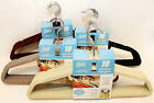 10 Velvet Slim line Hangers Ultra-Slim Built-in Hook Accessory Bar Nonslip ❤•❀~☀