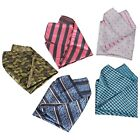 BMC Mens 5 pc Mixed Pattern Large Pocket Square Fashion Handkerchief Accessories