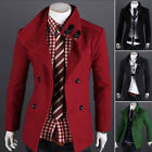 Men Coat Double Breasted Peacoat Winter Jacket Outerwear Coat New Year Gift Hot