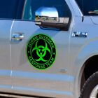Green Zombie Outbreak Response Team Sticker Biohazard Dead Gun Decal